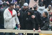 Mayor Stephanie Rawlings-Blake and Lt. Gov. Anthony Brown mingle with Ravens players.