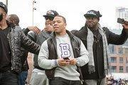Ravens running back Ray Rice enjoys the team's Super Bowl parade.