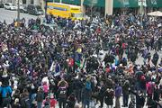 Fans packed the streets for the Ravens Super BowlVictoryParade Tuesday.
