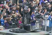 Safety Ed Reed was a hit with the crowd.