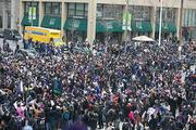 Fans started to join the parade themselves as it moved to M&T Bank Stadium.