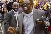 Ravens safety Ed Reed shows excitement at Super Bowl sendoff rally for the team on Monday at the Inner Harbor.