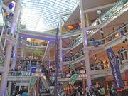 The Gallery at Harborplace was packed Friday for a lunchtime pep  rally for the Ravens, who will face the New England Patriots this  weekend in the AFC Championship game.