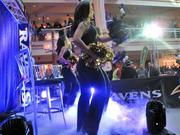 Members of the Ravens cheerleading squad at a team pep rally on Friday at the Gallery.