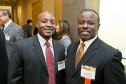 Peter Chiweshe, Living Learning Properties LLC; Vernon Irving, president and co-owner, Admiral Elevator.