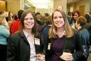 Talia Peery, Senior Consultant, Impact HR; Pam Pitman, associate director, business sevelopment, Ernst & Young.