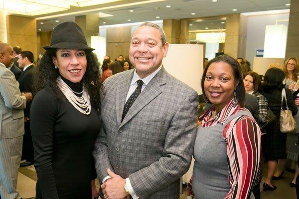 Rhonda Overby, CEO of Camera Ready; Wayne Frazier Sr., president of the Maryland Washington Minority Contractors Association; Portia Borden, marketing and outreach executive, Plexus Com Group.