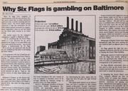 A fun one to look back on. Six Flags did operate an indoor theme park at the Power Plant along the Inner Harbor from 1985 to 1989. But after the Hard Rock Cafe opened up in the former factory in 1997, and the ESPN Zone followed in 1998, it is hard to imagine Cordish Cos.' Power Plant as anything else other than an anchor retail presence on the Inner Harbor.