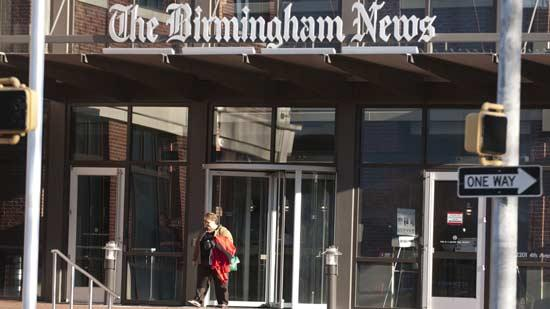 About 400 employees will be impacted by layoffs at the Birmingham News, Press-Register and Huntsville Times.