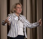Greta Schulz, president of SELLutions, talked about how to boost sales and how to improve networking skills.
