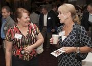 Romona Griffin and Sheri Corey of Sew Sheri Designs and Dorm Suite Dorm network at the Business Summit.