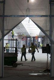 Concourse B construction.