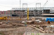 Foul poles have already been installed at Regions Field.
