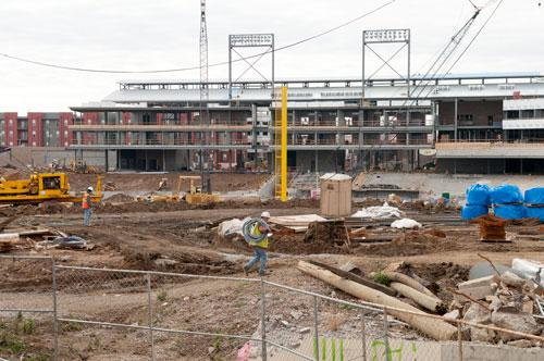 Regions Field, the Birmingham Barons ballpark under construction now, has already spawned several new developments in the Railroad Park area, including a $33 million multifamily project by Inland American.