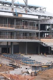 The lower-level seating at the new ballpark.