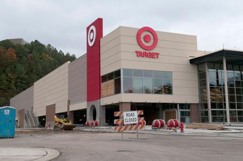 The Target Corp. store under construction at Brookwood Village led the shopping center's owner, Colonial Properties, to launch plans for a new retail development. Now, the development is starting to attract attention from big names like DSW Inc.