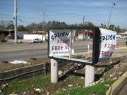 The Splish Splash Car Wash was one of many Center Point businesses to sustain damage on Monday.