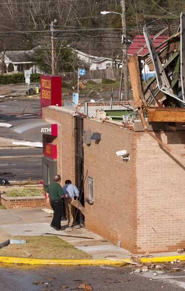 The Wells Fargo branch that was destroyed in the tornado that hit Center Point in early 2012 reopened this week.