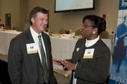 Protective Life Corp.'s Scott Adams and University of Alabama at Birmingham's Alesia Jones.