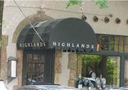 No. 5 - Highlands Bar and Grill Average price of most and least expensive entree: $32