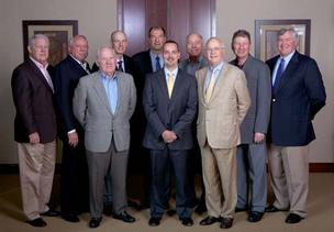 MedjetAssist's advisory board and executives. Back row: Bob Reich, MedjetAssist director; Dee Hubbard, luxury property developer for Big Horn Country Club; Jim Furyk, 16-time PGA Tour winner; Roy Berger, president and CEO of MedjetAssist; Bart Starr, NFL Hall of Famer and two-time Super Bowl MVP; Harold Ripps, MedjetAssist managing partner; and Mike Hallman, MedjetAssist director.
