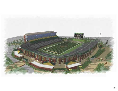 Ray Watts' first press conference touched on a number of topics, including a potential on-campus football stadium.