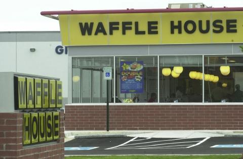 Waffle Houses are typically standalone restaurants but one is taking space in a retail center across from the OSU campus.