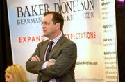 Murphy McMillan of Baker Donelson Bearman Caldwell & Berkowitz stands by his firm's exhibit.
