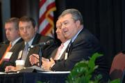 Greg Canfield, director of the Alabama Development Office, speaks during the 2011 Business Growth Expo.