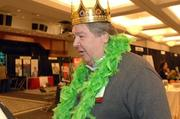 Tony Cooper of the Jimmie Hale Mission enjoys the photo booth.