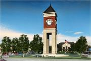 The plans include a new clock tower.