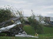 Alabama Tornado Damage: Debris from the tornado in Daniel Payne Industrial Park.