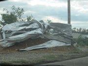 Alabama Tornado Damage: Tornado damage along Coalburg Road in Daniel Payne Industrial Park.