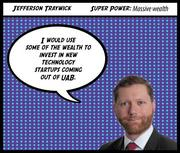 Jefferson Traywick Company: Birmingham Business Alliance Why Jefferson is a Top 40 honoree:  Jefferson Traywick, 33, is senior project manager of economic development with the Birmingham Business Alliance. When Traywick was with the Bessemer Industrial Development Board, he helped create 287 jobs and acquired more than $26 million in funding.  Subscribers can click here for the full profile  Join us to honor Jefferson and the rest of our 2012 Top 40 Under 40 at our awards luncheon on Feb. 23. Click here for more information on the event