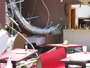 The inside of Doodle's Restaurant after Wednesday's storms.