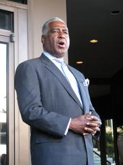 Birmingham Mayor William Bell addresses the crowd gathered for the opening of the new Westin Career Center on Sept. 24.