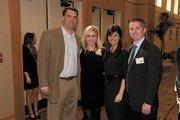 Luke Robinson, left, and Daniel LeBlanc, far right, with honorees Krista Conlin of KC Projects and Amanda LeBlanc of The Amandas.