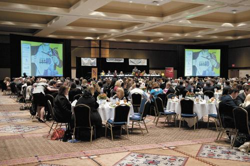 More than 400 people attended the awards luncheon, which incorporated the super hero theme from this year's section.