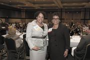 Jamika Kirk, an honoree from the University of Alabama at Birmingham, with Bobbie Knight of Alabama Power.