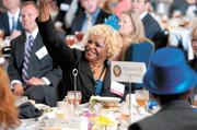 Protective Life Corp.'s Cheryl Cooper celebrates during the event.