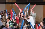 The crowd of more than 300 celebrated their achievements with Thunderstix.