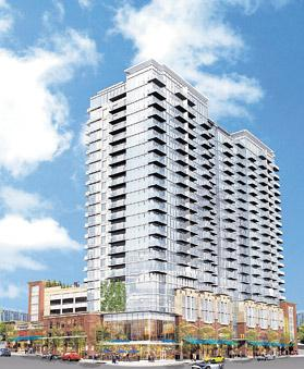 Daniel's 77 12th Street is the fourth high-rise within the 12th & Midtown development.