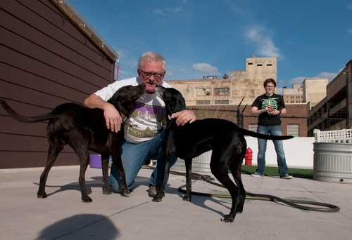 Dog Days owner Jimmy Johnson used a development loan from the city to start his business.