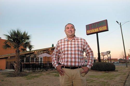 Noe Roman, an owner of El Cazador, got an SBA loan to buy their Leeds restaurant building.
