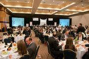 Nearly 300 people attended the annual awards dinner.