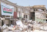 Tuscaloosa's Krispy Kreme shortly after a tornado cut a mile-wide swath through the area on April 27.