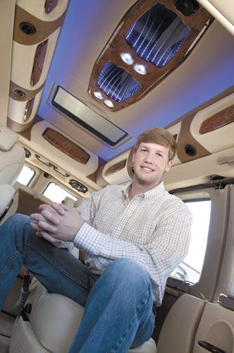 MCM Vehicles' Michael McSweeney switched its sales of customized vans overseas when the economy dropped in the U.S. SEE Page 3.