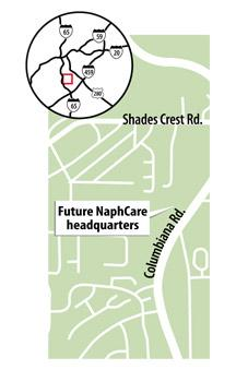 NaphCare shifts 100 employees, HQ to Vestavia