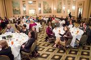 About 150 people attended the luncheon at the Wynfrey Hotel.