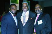 Miles College President George T. French Jr., Birmingham Mayor William Bell and Charles Long.